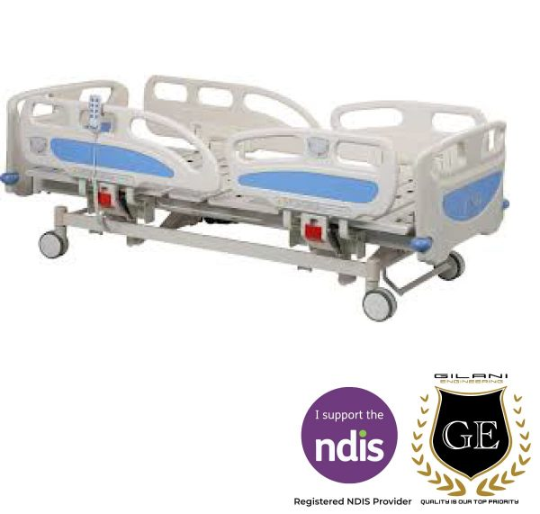 Adjustable Electric And Manual Hospital Bed With Remote Control