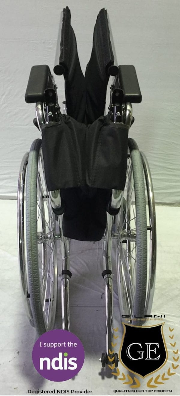 Heavy Duty foldable manual Wheelchair With Adjustable Leg Support