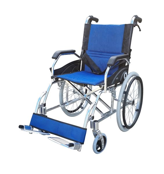 Simple manual pushchair self propelled manual wheelchair with attendant carer hand brake