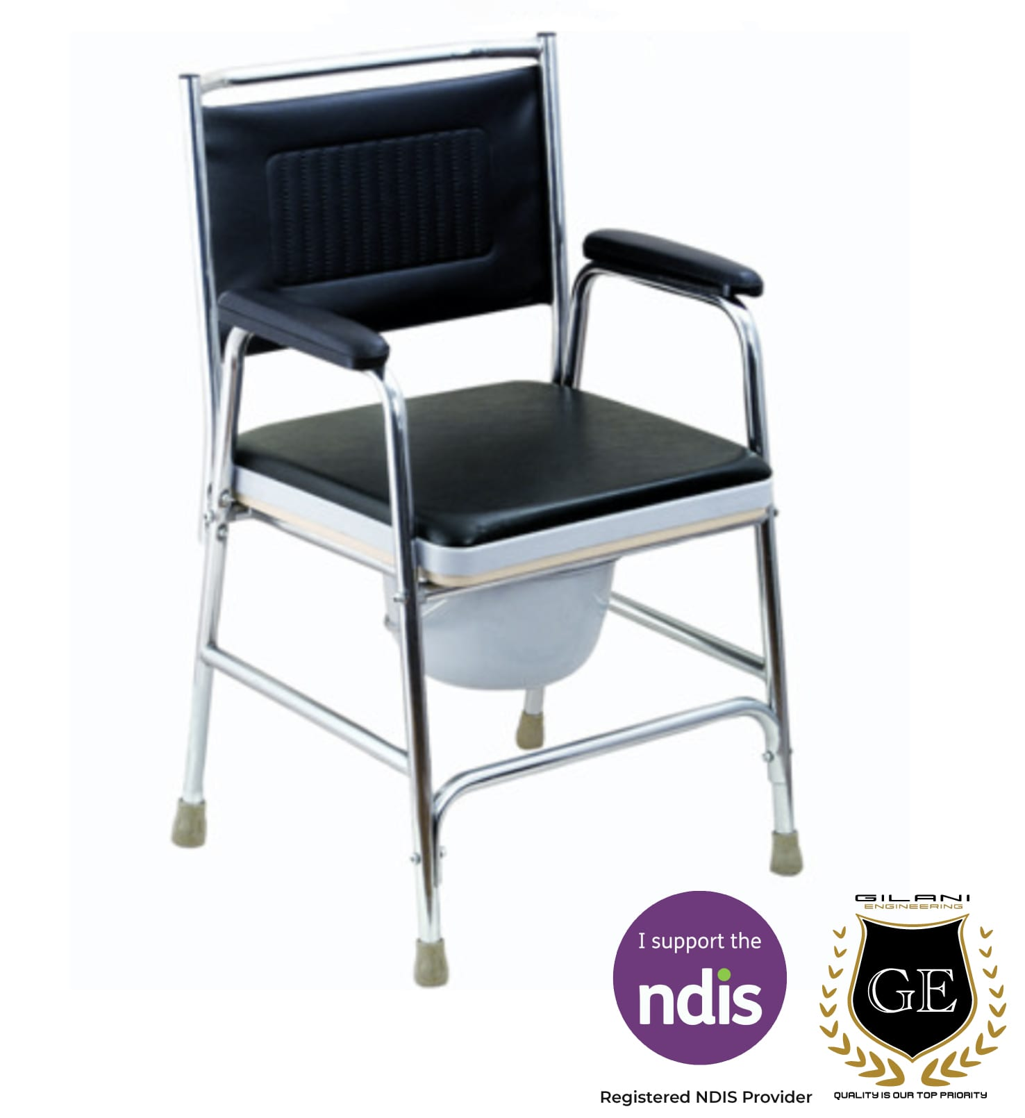 Commode Chair For Bathroom, Shower, Toilet  Gilani Engineering