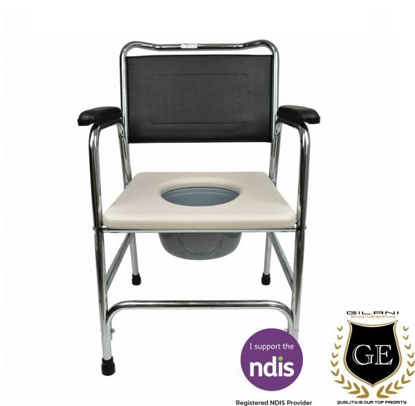 Commode chair for disabled person