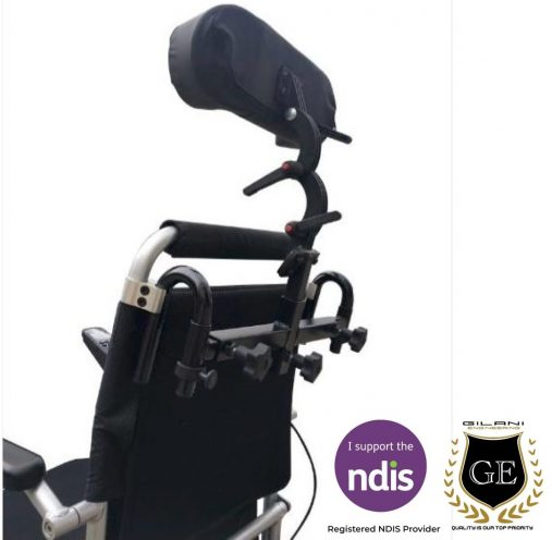 Detachable Adjustable Headrest support for Wheelchairs & amp Mobility Scooters