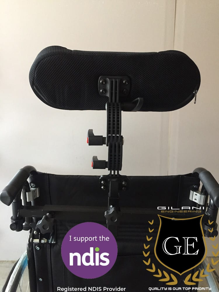 Detachable Adjustable Headrest head support for Wheelchairs & amp Mobility Scooters