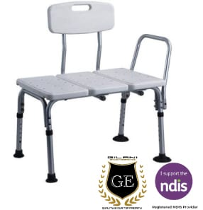 Aluminium Shower Chair With Back Rest