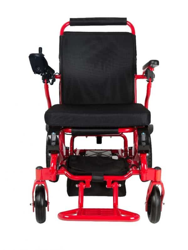 GILANI ENGINEERING GED09 Red foldable heavy duty lightweight wheelchair