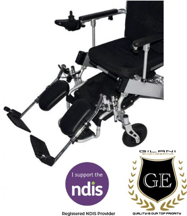 Leg Rest Support For Foldable electric wheelchair fits GED09 and GED05 GILANI ENGINEERING