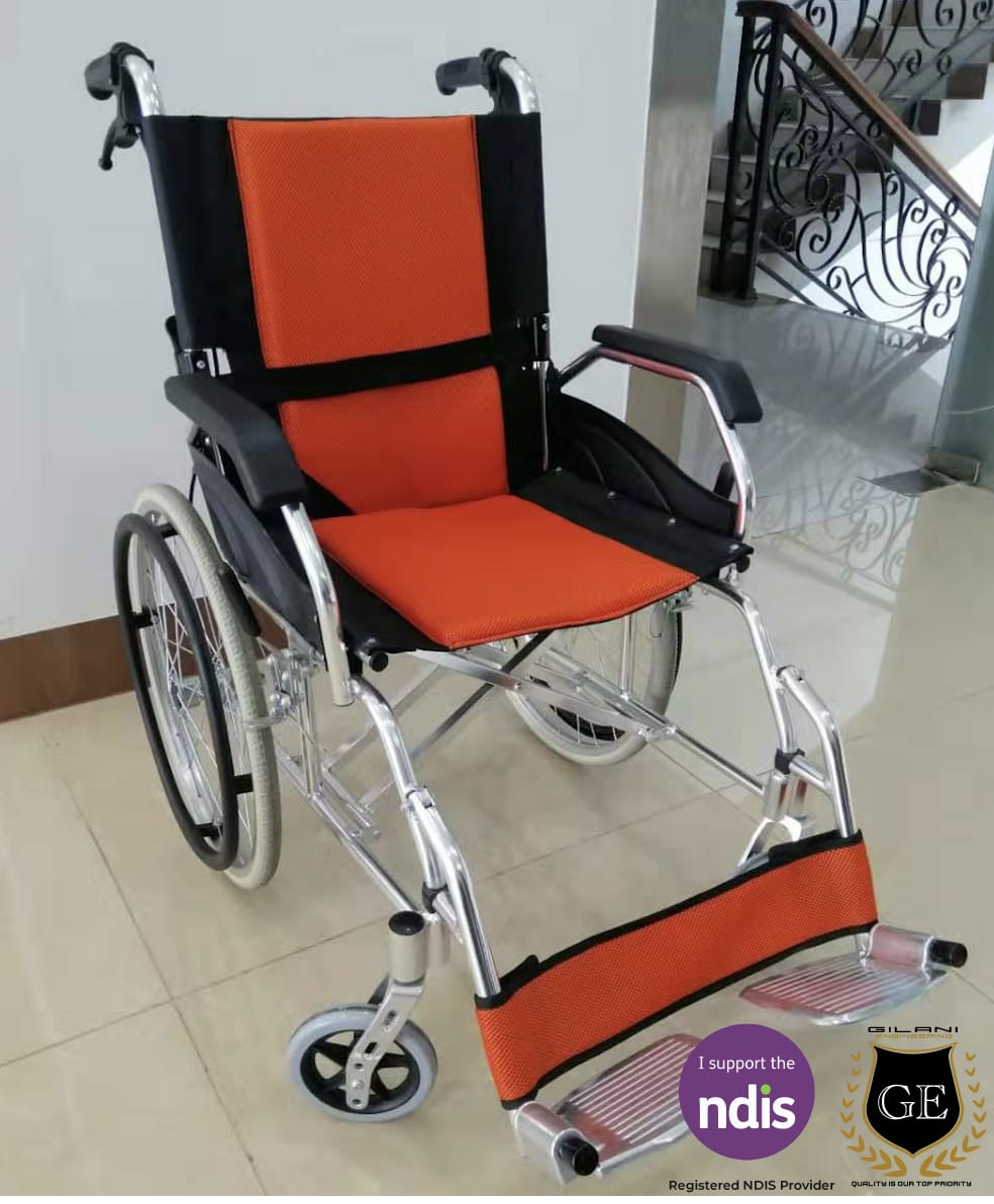 Light Weight Aluminium Wheelchair With Folding Backrest