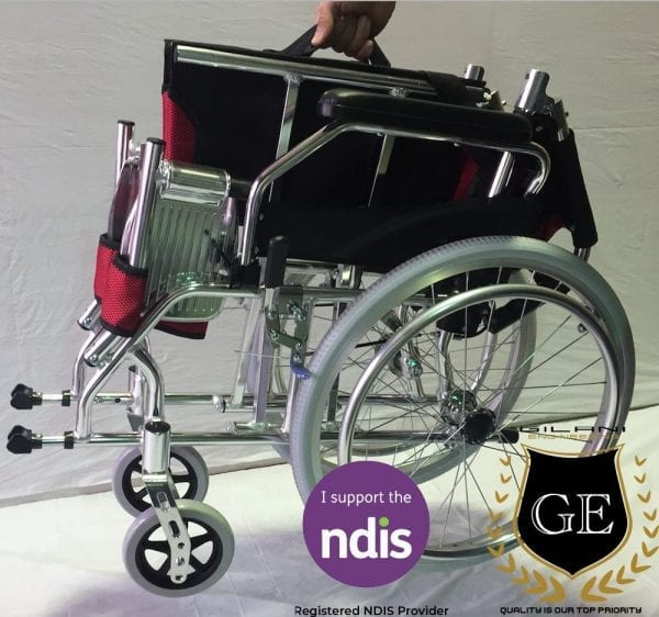 Light and Compact Aluminium Wheelchair With Foldable Backrest