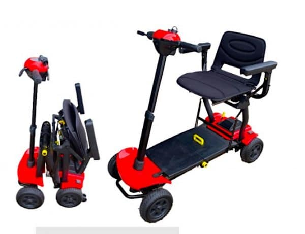 Automatic Folding Mobility Scooter with a buttonl