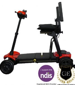 folding mobility portable scooter, lightweight foldable with press of a button