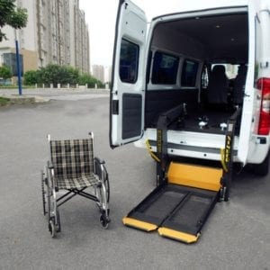 Hydraulic Accessible Wheelchair taxi Lift hoist for vehicle GILANI ENGINEERING