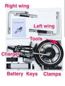 Attachable Electric Handcycle Kit For Wheelchair Practical Electric Attachable Power Assist 12Ah Long Range -GILANI ENGINEERING