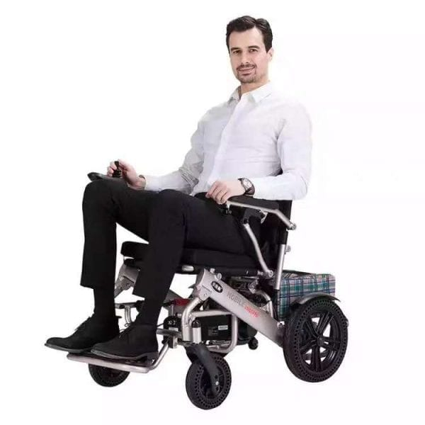 Heavy Duty Foldable Motorised Electric Foldable Power Wheelchair for Sale GILANI ENGINEERING