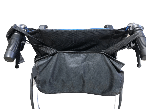 Back Pack Storage for Wheelchairs