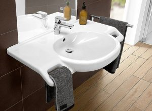 Accessible Floating basin for bathroom modification