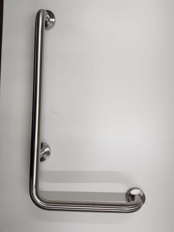 Corner Grab Rail With 90 Degree Connected Bracket Wall Mounted Heavy Weight Capacity GILANI ENGINEERING