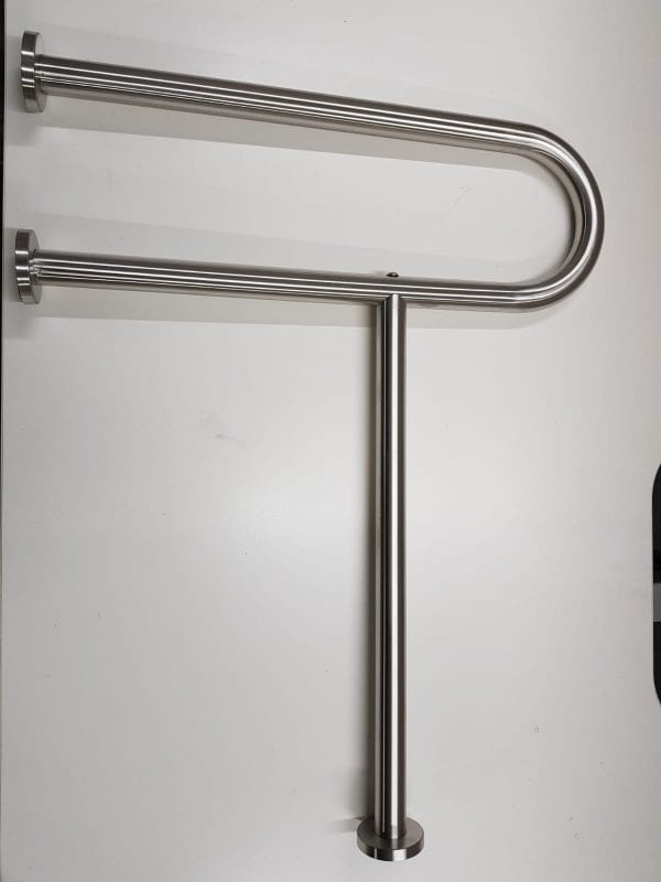 Fixed Toilet Handrail Heavy Duty Stainless Steel Wall and Floor Wall Mounted Vertical Support Leg Gilani Engineering