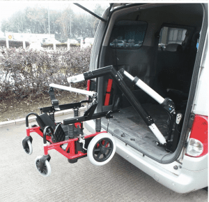 Wheelchair assistive mobility vehicle modification