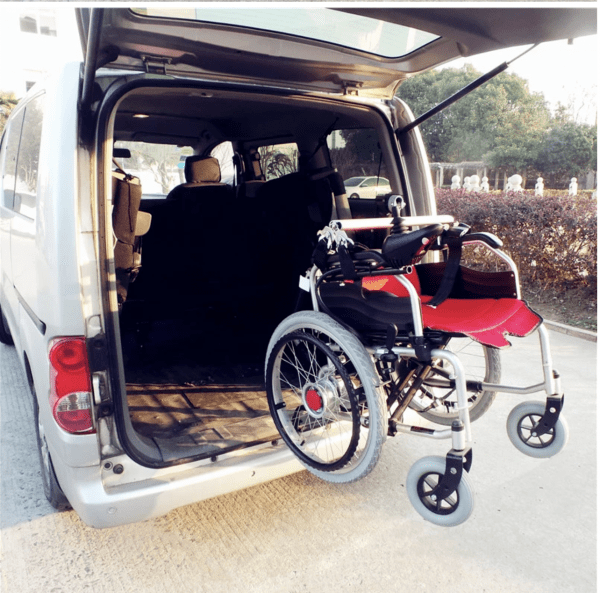 Wheelchair assistive mobility vehicle