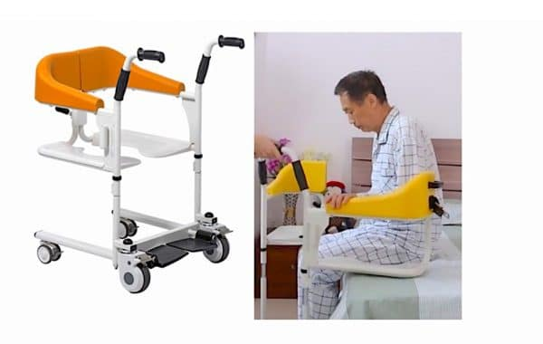 Transfer Commode and Over Toilet Wheelchair