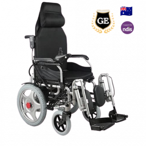 Electric wheelchair with auto leggiest adjustable