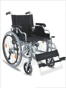 Manual Wheelchair 125kg capacity quick release wheels foldable and self propelled Aluminium GILANI ENGINEERING