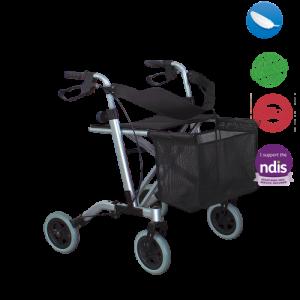 lightweight walker with accessories