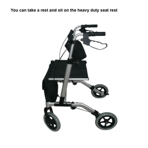 foldable walker with seat
