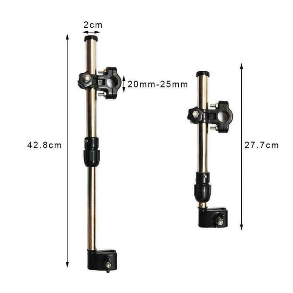Adjustable Umbrella Holder for Wheelchairs/Scooters/Prams Walkers/Rollator Frames