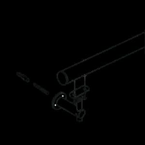 Balustrade Short Stem Adjustable Angle Wall Mounted Elbow Bracket installation