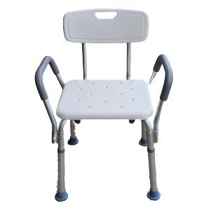 Shower Chair with Stool Back and headrest adjustable for bathroom