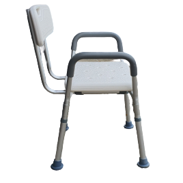 Shower Chair with Stool Back and headrest adjustable