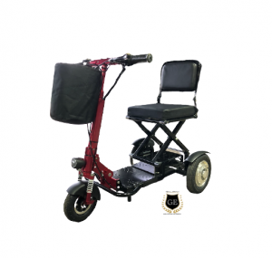 Mini Foldable mobility Scooter Electric Tricycle With Spotlight