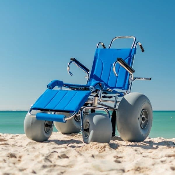 Sandcruiser Manual Wheelchair for elderly and disability at the beach