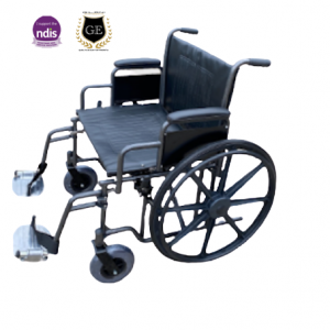 Foldable Bariatric Wheelchair Extra Wide Seat Removable Leg Rest Heavy Duty 250kg Weight Capacity