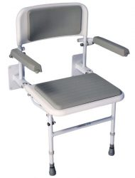 Wall mount shower chair