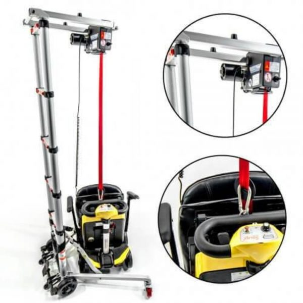 Portable Wheelchair Hoist Lifter for Mobility Wheelchairs and Scooters GILANI ENGINEERING