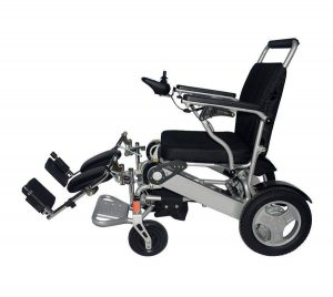 Flip Away Leg Rests for Foldable Electric Wheelchair