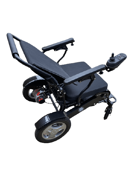 Exclusive lightweight foldable adjustable backrest electric powerful wheelchair
