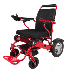 GILANI ENGINEERING GED09 Red foldable heavy duty electric wheelchair