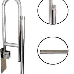 Drop Down Fold Away Stainless Steel toilet grab rail