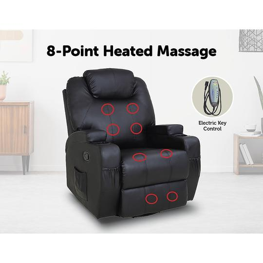 Recliner Lift Chair Sit and Stand Up With Massage and Heat Options Monte Carlo 14