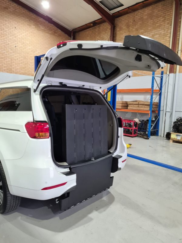Disability car conversion that takes the minimum space while easy to use.