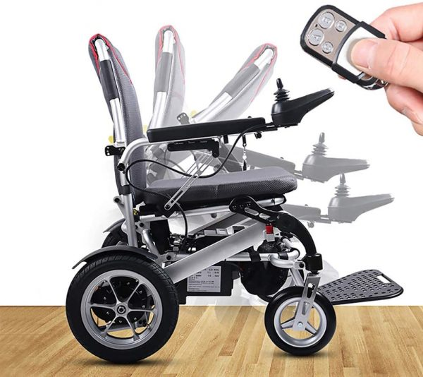 Auto Folding Electric Wheelchair Lightweight with a Remote Control 2