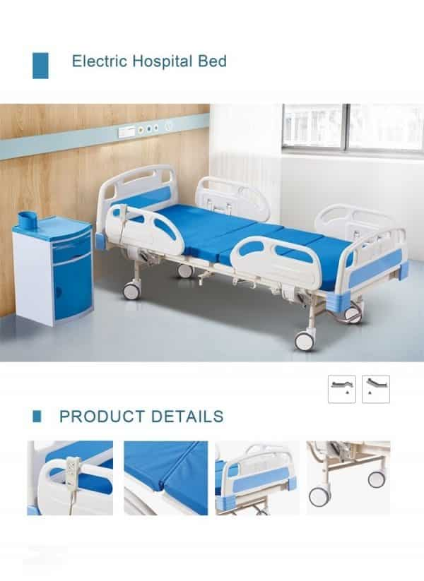 Fully Adjustable Electric Single Hospital Home Care Bed With 5 Settings for Sale