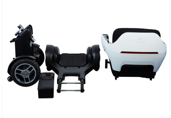 Electric Wheelchair Scooter With Unique Omnidirectional Wheels IGET1