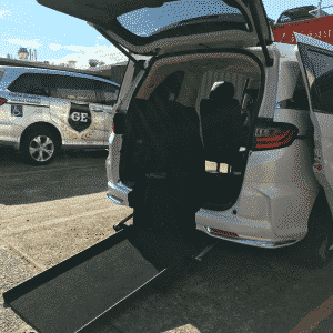 Honda Odyssey 2nd Row Conversion Fully Automatic Rear Access Ramp wheelchair access