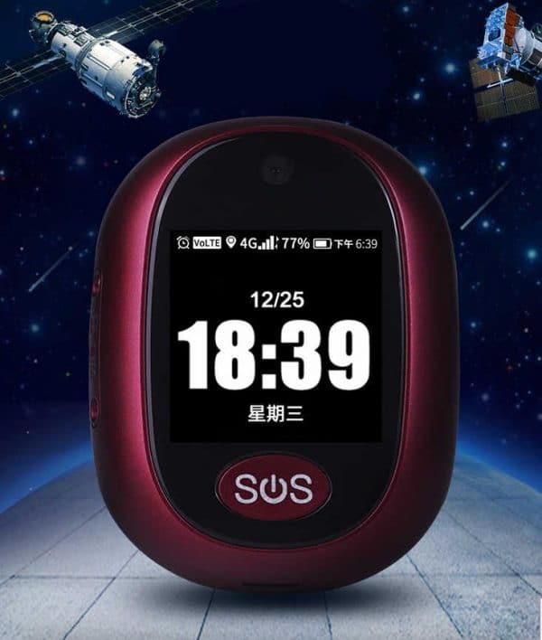 Person Fall Detector Alarm with GPS Tracker and Two-Ways SOS Emergency Button