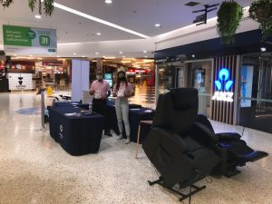 Pink Comfort showcasing independence Gilani Engineering Products at Seven Hills Plaza - recliner lift chairs, electric wheelchair, posture cushions and many more!