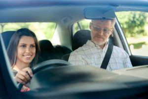 Dual control driver training instructor for learners